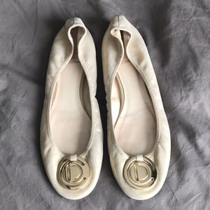 Christian Dior gold flats in size 39